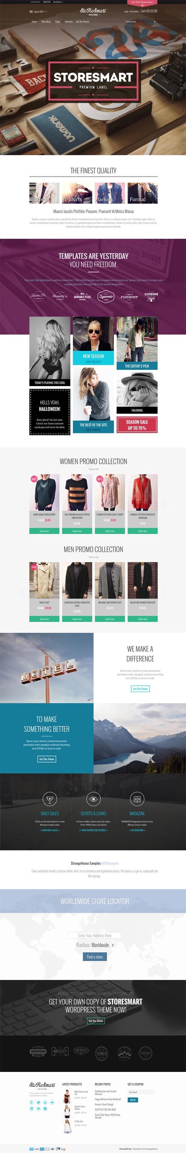 StoReSmart - Multipurpose Ecommerce Theme
