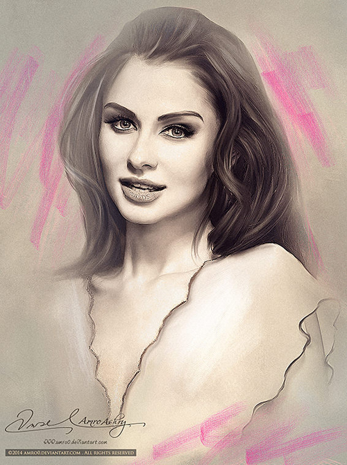 Beautiful Portrait Illustrations by Amro