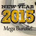 Post thumbnail of New Year 2015 Mega Bundle (Mock-up, Fonts and Vectors)
