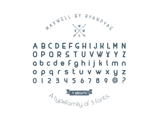 MAXWELL Font Letters