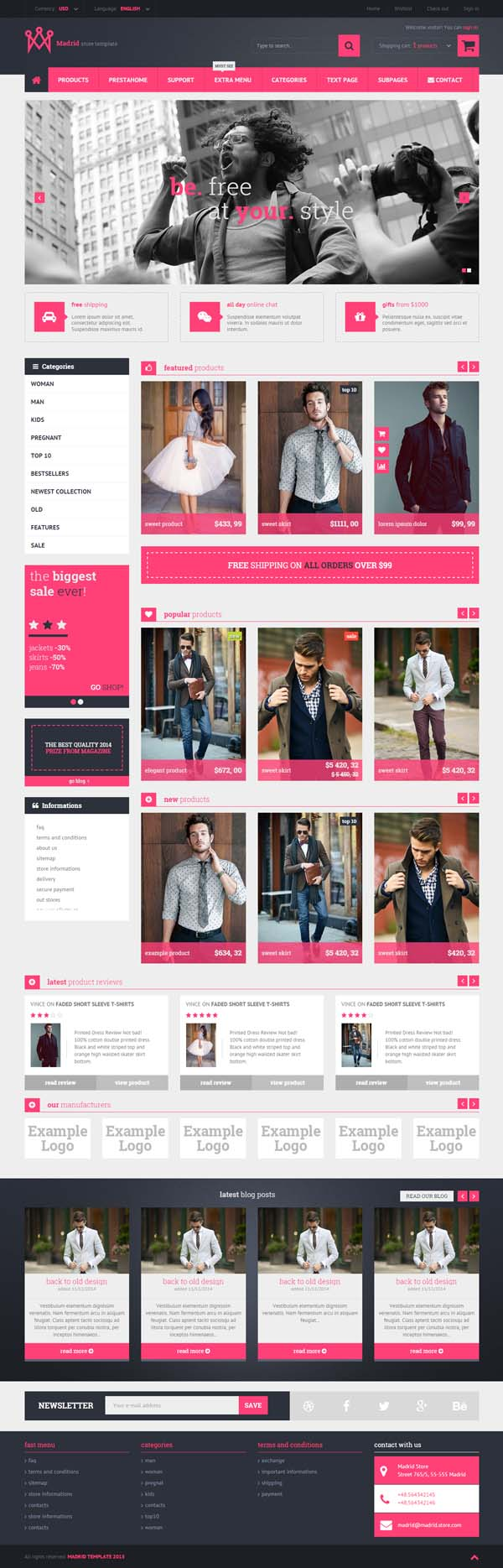 Madrid - Responsive HTML5 Store Template
