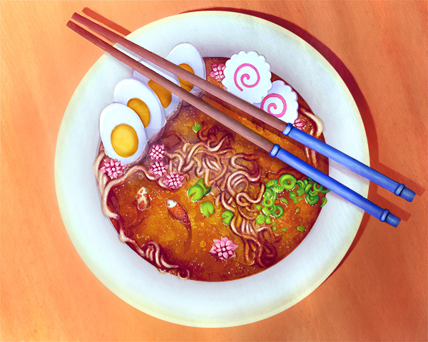 Create a Surreal Ramen Bowl Illustration in Adobe Photoshop