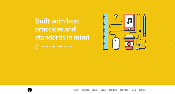 One Engine is a flat design-styled free WP theme