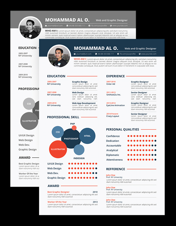 Free Resume Template Print Ready Design