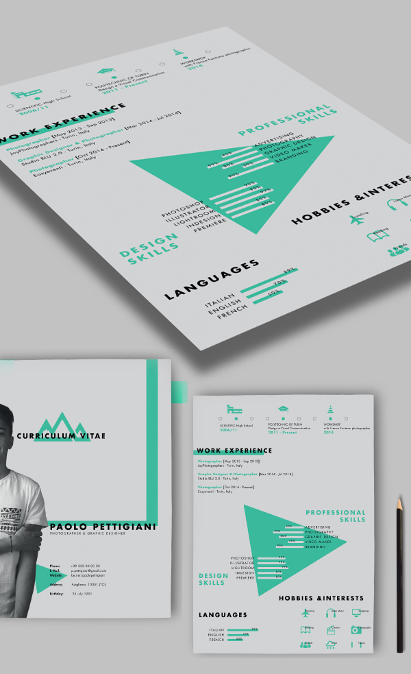 Self Promotion Free CV / Resume PSD Template