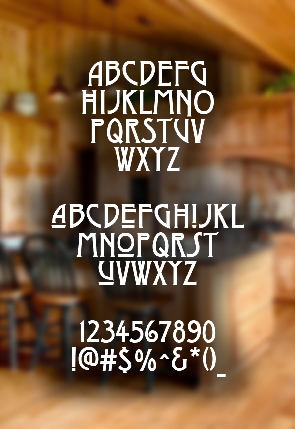 Dyer Arts and Crafts Font