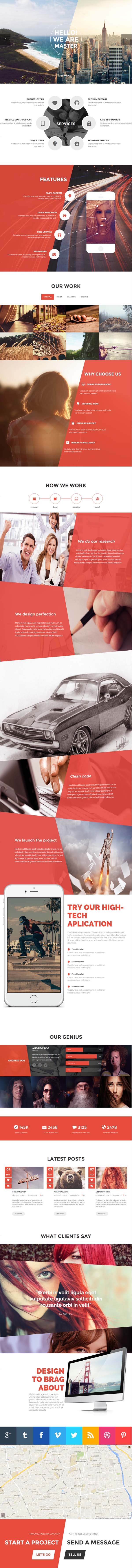 Master HTML5 Template