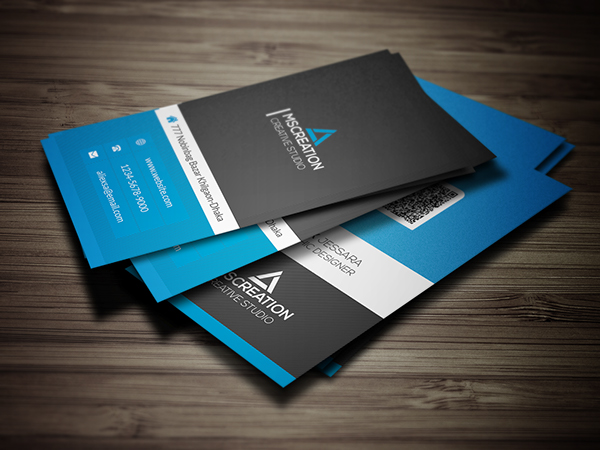 25 best creative business cards for graphic designers graphics creative vertical business card reheart Choice Image