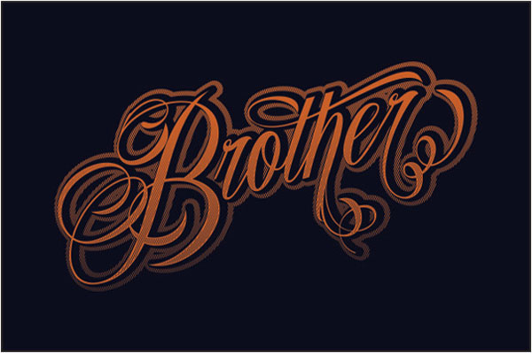Amazing script typeface with ink cool swashes