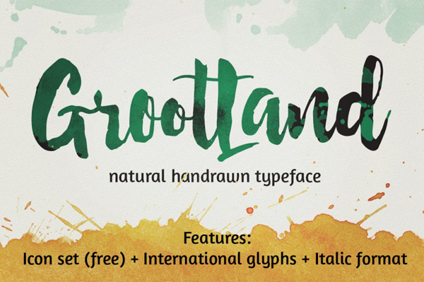 Grootland Handcrafted with a brush & ink