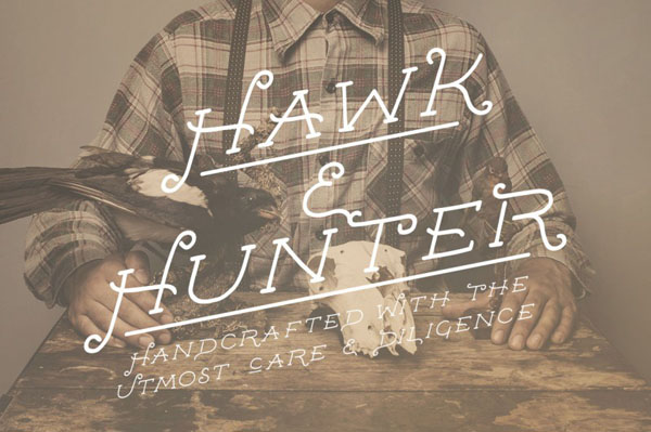 Hawk & Hunter is a new handcrafted font from Design Surplus