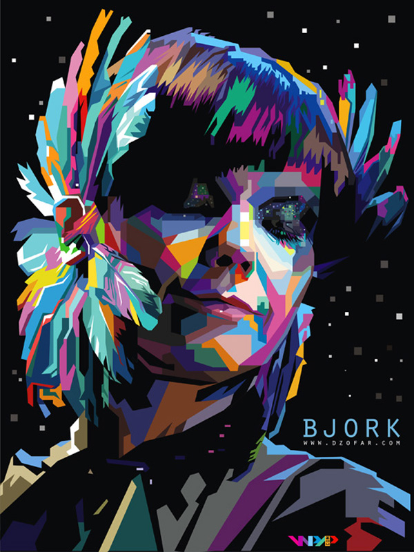Bjork Homogenic Pop Art WPAP by ndop