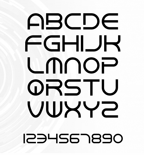 Chandstate font letters
