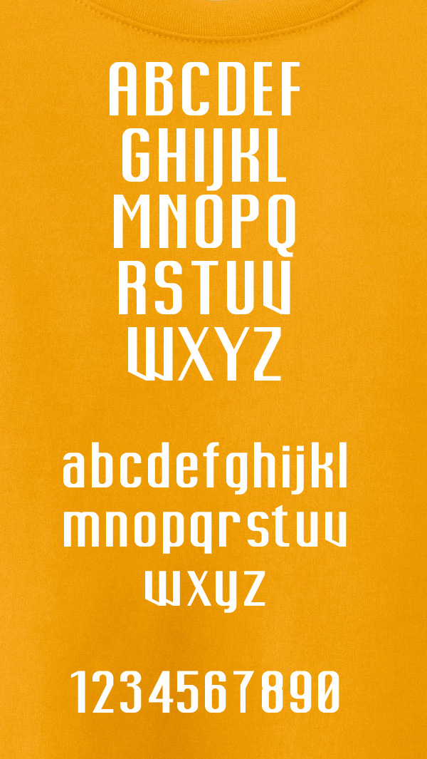 Corvy font letters