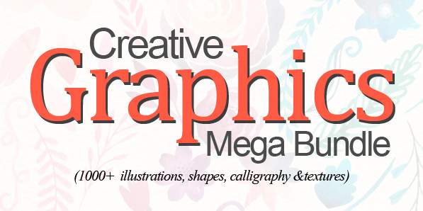 Creative Graphics Bundle for Designers (1000+ Design Elements)