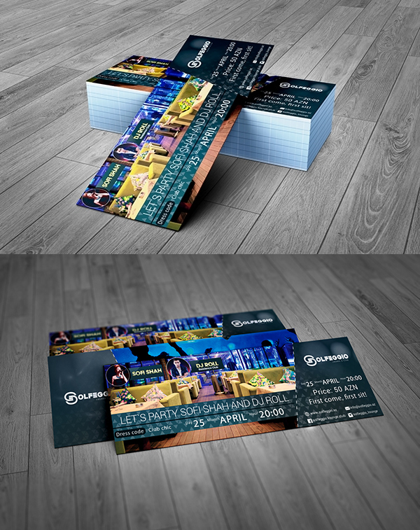 Event Ticket Free PSD Template
