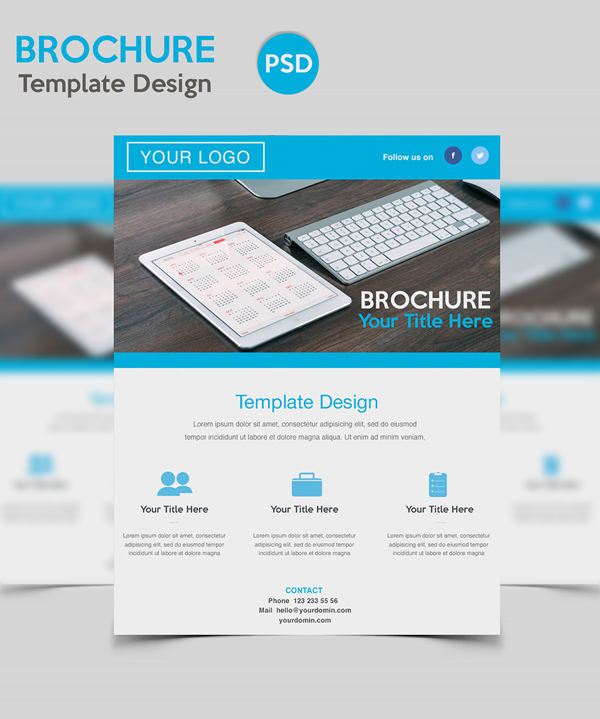 Useful free photoshop psd files for designers freebies for How to design a brochure in photoshop