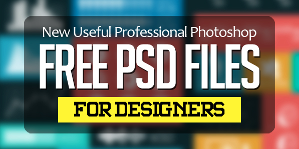 25 New Useful Photoshop Free PSD Files for Designers