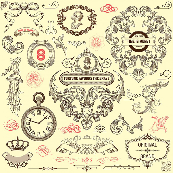 Vintage decorative vector elements