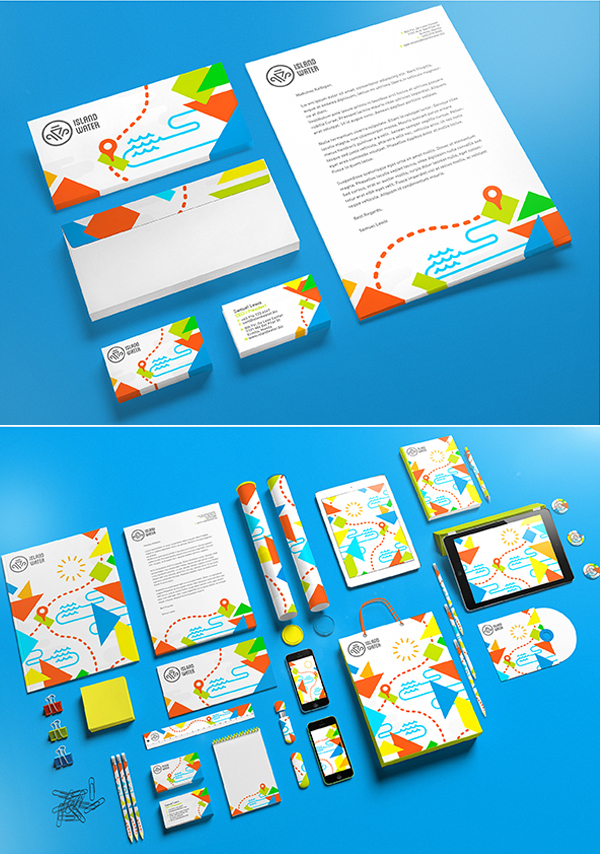 Island Water Stationery Items
