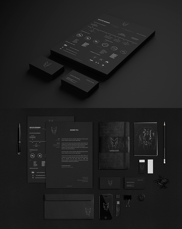 Rabidblackdog Personal Branding Stationery Items
