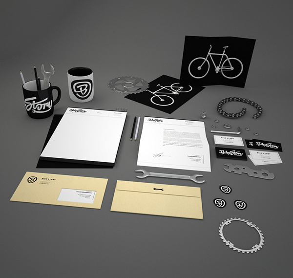Bike Story Stationery Items