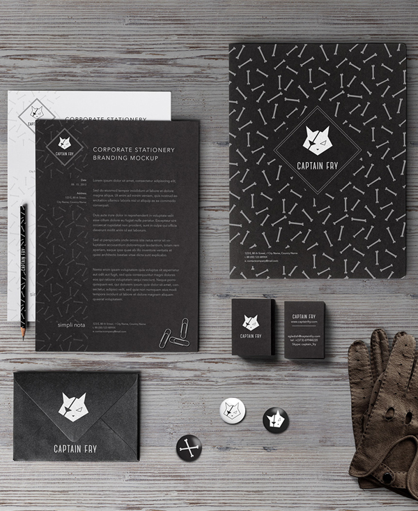 Captain Fry corporate Identity Stationery Items