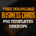 Post thumbnail of 25 Free Business Cards PSD Templates and Mockup Designs