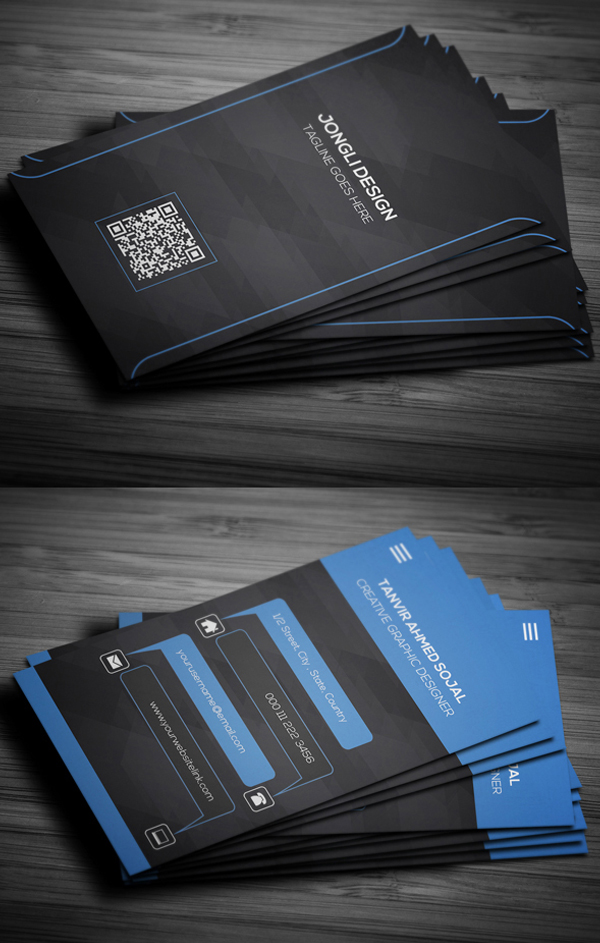 19 Modern Designs Business Cards PSD Templates