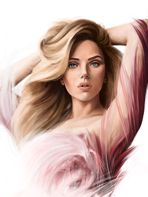 Scarlett Digital Art by Katrin Ho