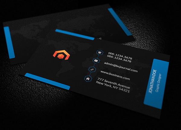 Free business cards psd templates mockups freebies for Business card psd template free