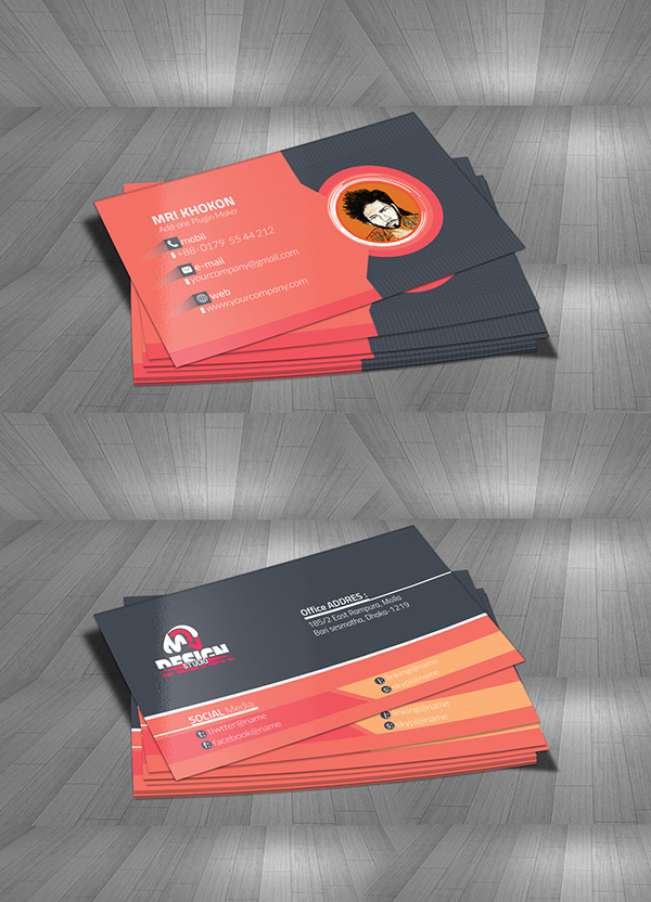 Free MRI Design Studio Business Card Mock-Up