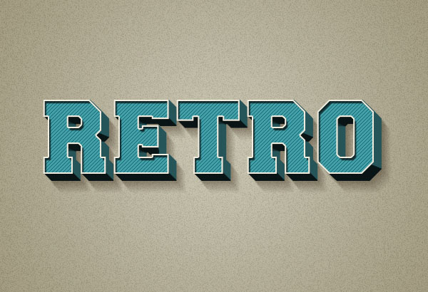 Free 3D Retro Text Effect PSD Format