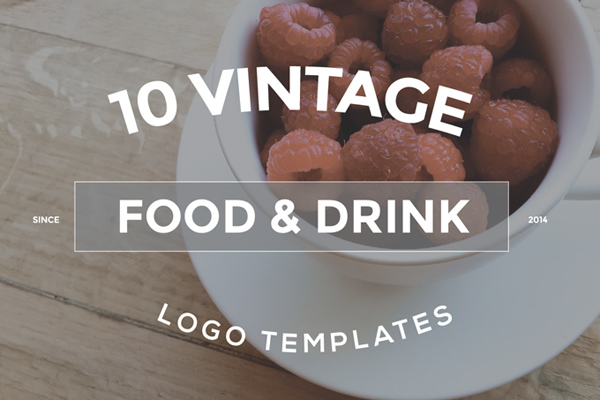 10 Food & Drink Logo Designs Bundle