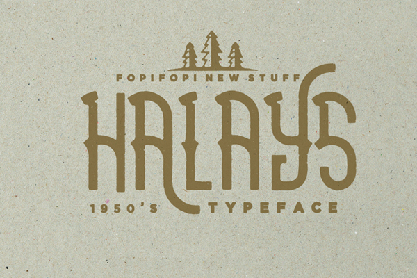 Halays Typeface is a unique font