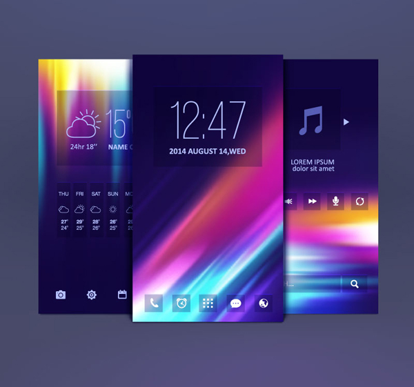 Mobile Themes Design Vector