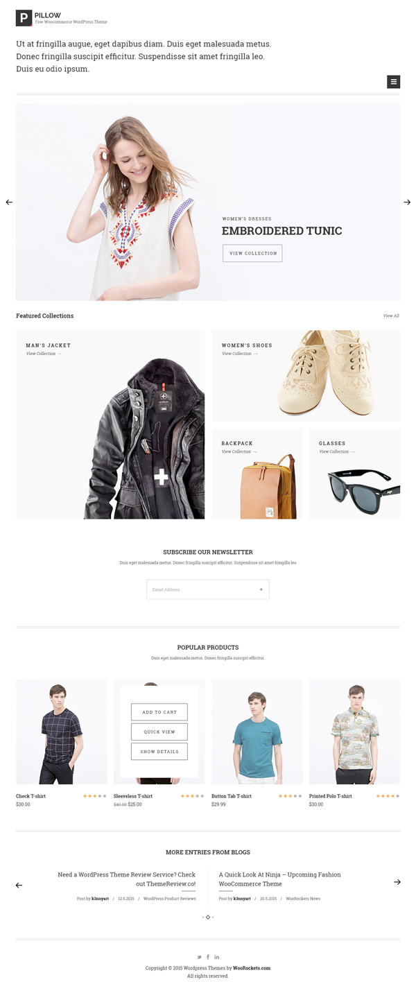 Free Minimal eCommerce PSD Template