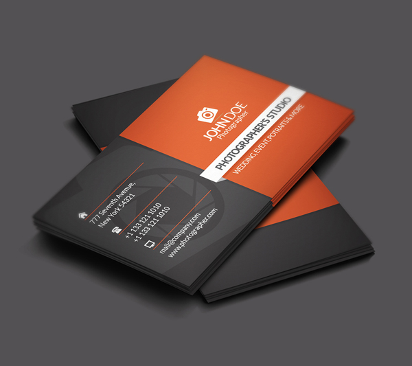 Free Photographer Business Card