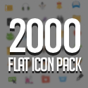 Post Thumbnail of 2000 Flat Icons Pack for UI Design