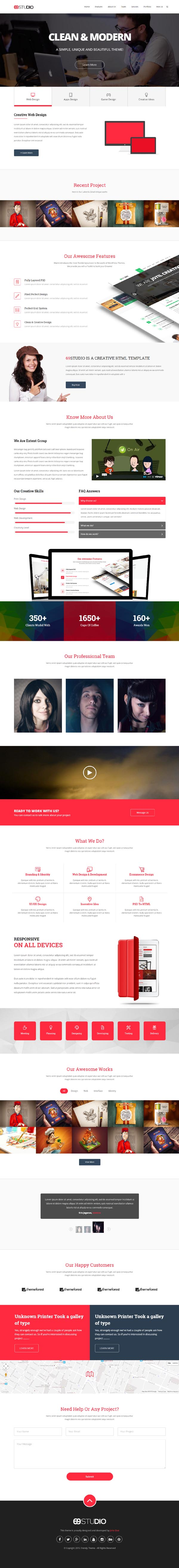69Studio Creative Agency HTML5 Template
