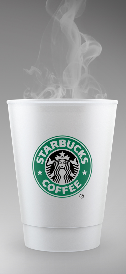 STARBUCKS Style Coffee Cup Mockup Free PSD Template
