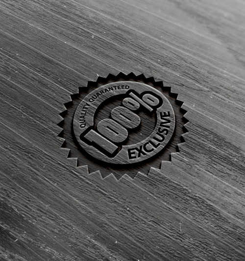 Photorealistic Wood Logo Mock-up