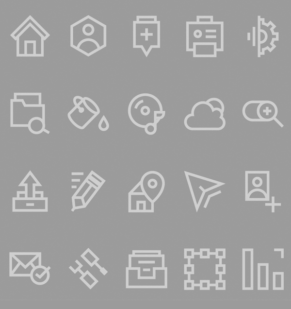 Free Line Icons for Web - PSD, AI and EPS (20 Icons)