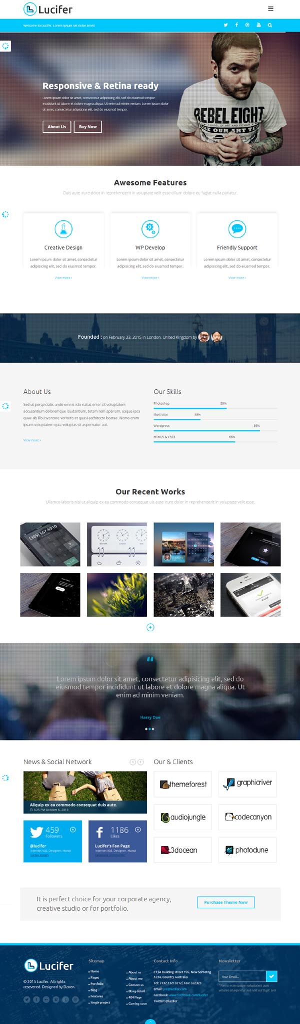 Lucifer - Multipurpose HTML Theme