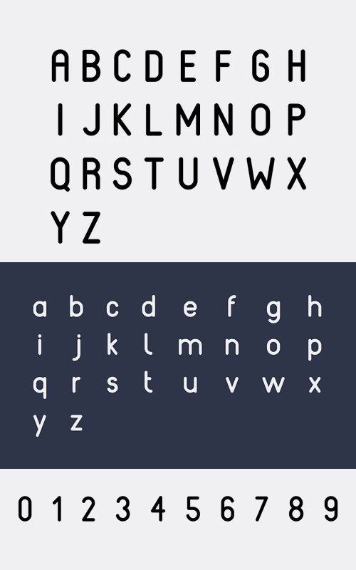 Reef Rounded Font Letters