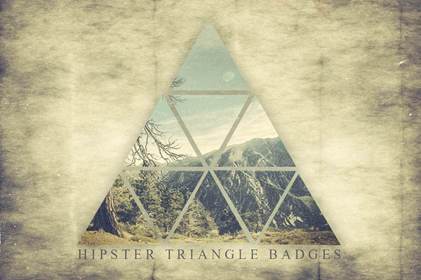 Hipster Triangle Badges