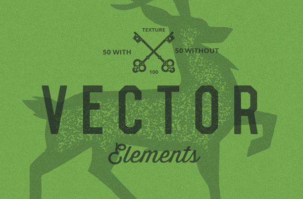 140 vector elements, 4 bonus Handcraft logo's