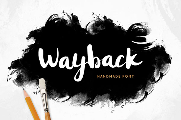 Wayback font is a carefully crafted font
