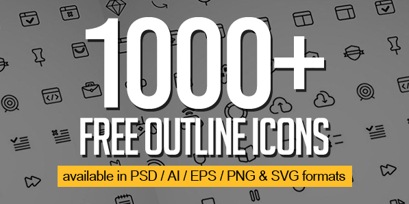 1000+ Free Outline Icons for UI Designers