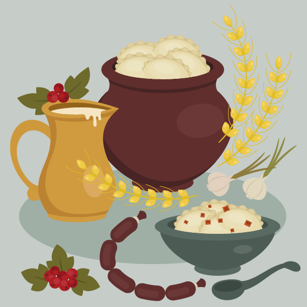 How to Create a Delicious Ukrainian Food Buffet in Adobe Illustrator